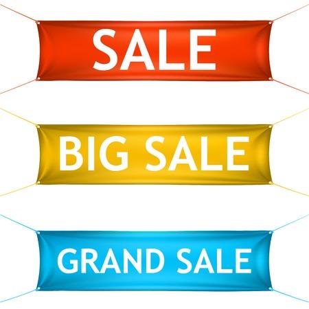 grand sale: Big, grand sale banners.