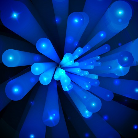 Blue abstract background. Move light from center. Vector Vector