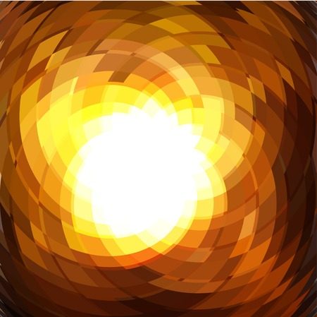 Explosion geometric gold background . Vector illustration Vector