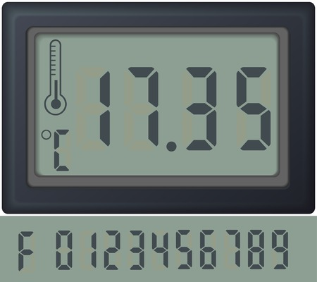 scoreboard timer: digital count clock watch, with different numbers vector