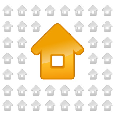 Real estate background. Small house - Vector icon isolated Vector