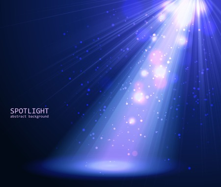 Abstract blue spotlight background. Vector illustration eps 10 Ilustração
