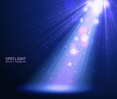 Abstracte blauwe spotlight achtergrond. Vector illustratie eps 10 Stock Illustratie