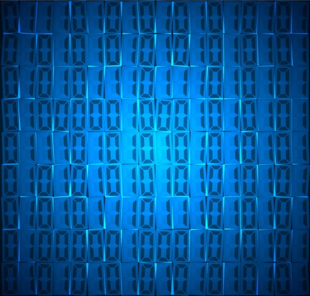 blue abstract: Technology concept hex code digital background vector
