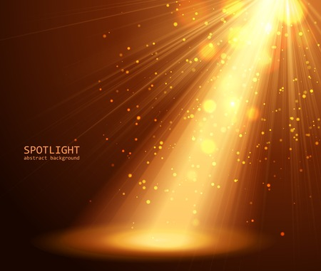hollywood stars: abstract spotlight background vector illustration