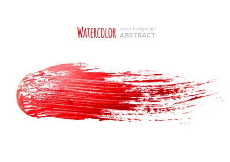 red brush strokes -  backdrop for your text. vector Illustration