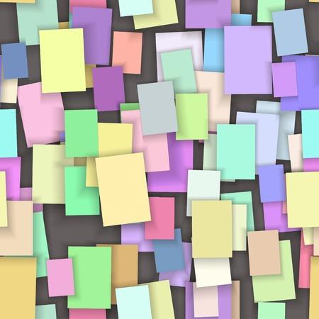 color paper: Nota de papel de color de fondo sin fisuras, vector