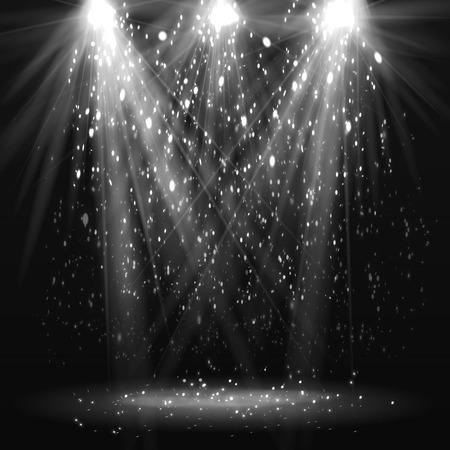 Spotlight vintage background. Vector illustration Illustration