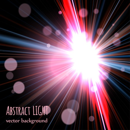 abstract background with blurred magic neon light curved lines. vector Banco de Imagens - 35755633