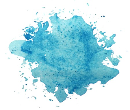 water stained: Abstract blue watercolor background vector Illustration