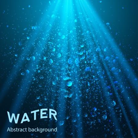 agua: parte bajo el agua de fondo ilustraci�n vectorial