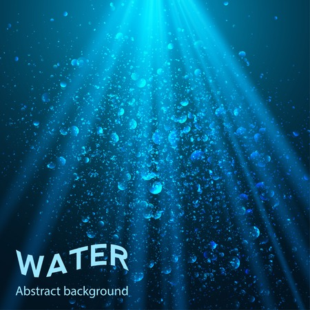 water bubbles: underwater part background vector illustration