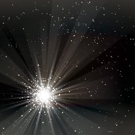 Een zwart kleurontwerp met een burst. vector