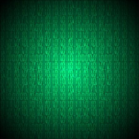 binary code: Binary computer code vector background illustration.