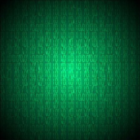 codigo binario: Código binario ordenador ilustración de fondo vector.