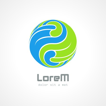 looped shape: Corporate styles vector logo design template. Illustration