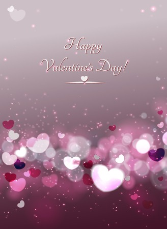 Abstract Glow Soft Hearts for Valentines Day . Vector and raster.