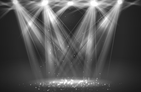 theater curtain: Spotlight vintage background. Vector illustration  Illustration