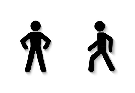 pedestrian trafficstay and walk. Illustration on white background