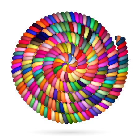 spiral cord: Different Colored Rope in spiral, vector
