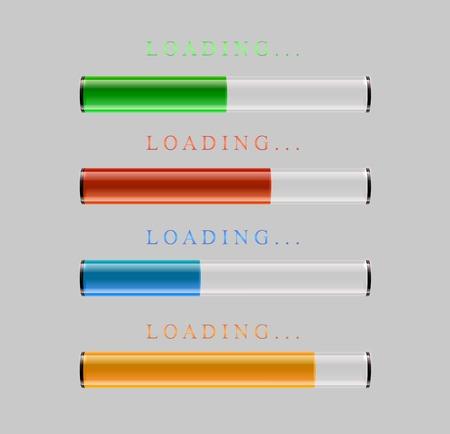preloaders and progress loading bars Vector illustration.