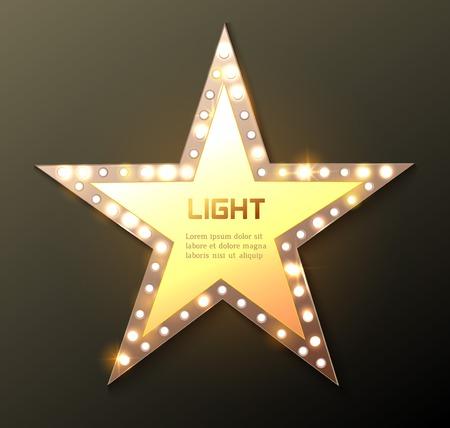 Star retro light banner. Vector illustration Reklamní fotografie - 38919321