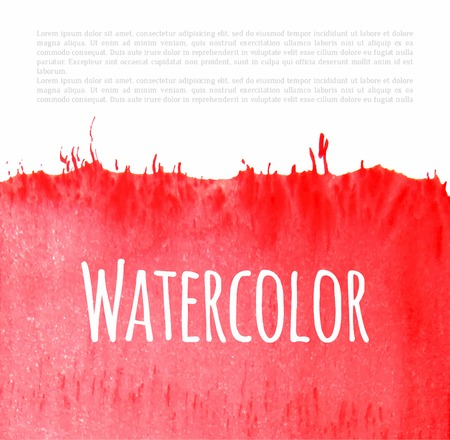watercolour: Vector red watercolour background.  Hand drawn design element.