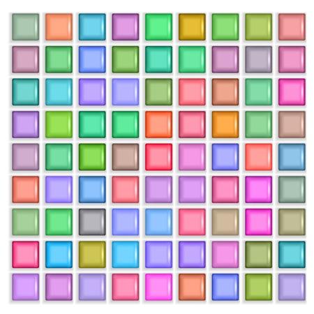 texture of illustration: 3d square mosaic. Vintage colorful texture illustration. Illustration
