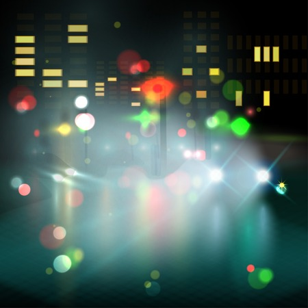 blurred lights: blurred lights in city night.