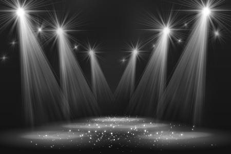 white curtain: Spotlight vintage background