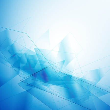 page background: Blue geometric abstract background vector illustration eps 10 Illustration
