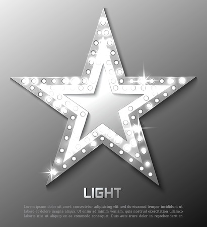 hollywood stars: Star retro light banner. Vector illustration eps 10