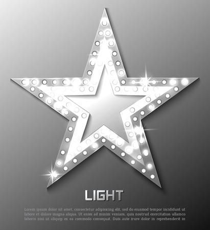 Star retro light banner. Vector illustration eps 10