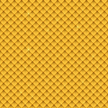 flaring: Seamless gold upholstery background pattern vector illustration. eps 10