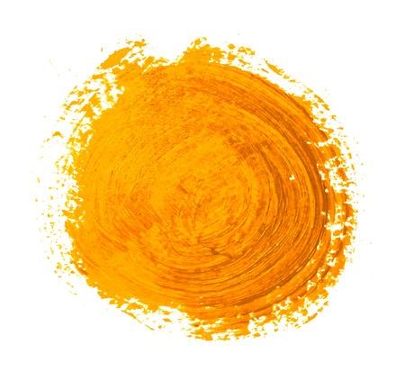 黄色オレンジ色の円のペイント ストロークのベクトル