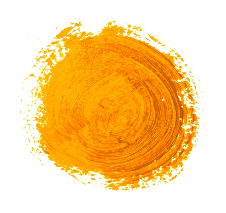 paint texture: the yellow orange circle paint strokes vector