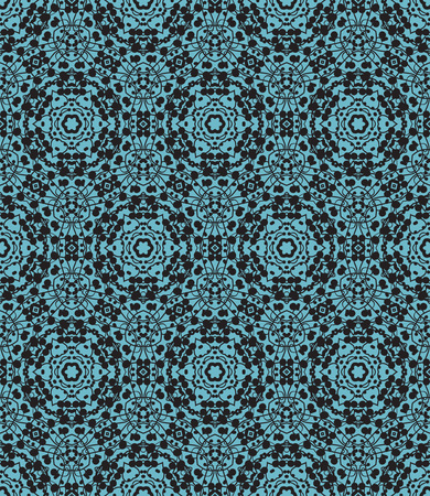 repeat pattern: seamless abstract background, hand made lines with spots Illustration