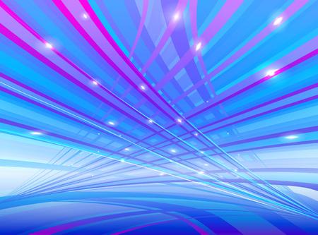 color in: L�neas de luz de color marr�n en la ilustraci�n vectorial spase Vectores
