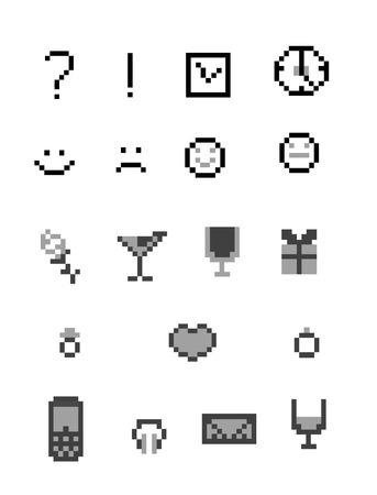 roze: pixel icon  vintage Vector illustration