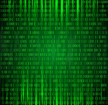 computer code: Binary computer code vector background illustration.  Illustration