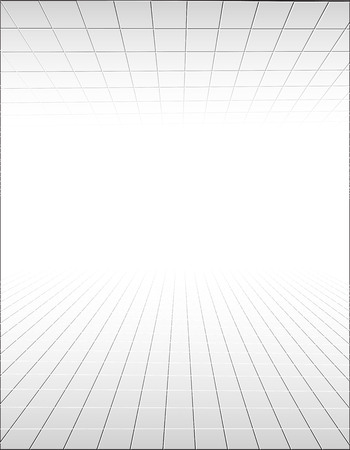 interior cell: Abstract background with a perspective grid. Vector illustration
