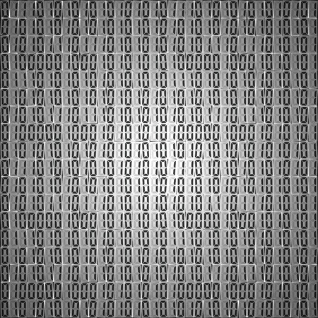 cypher: Flat binary code screen table cypher vector