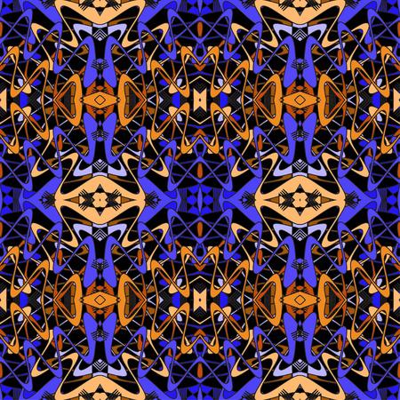 etno: abstract vintage geometric wallpaper pattern seamless background Illustration
