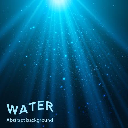 underwater abstract blue shine background illustration