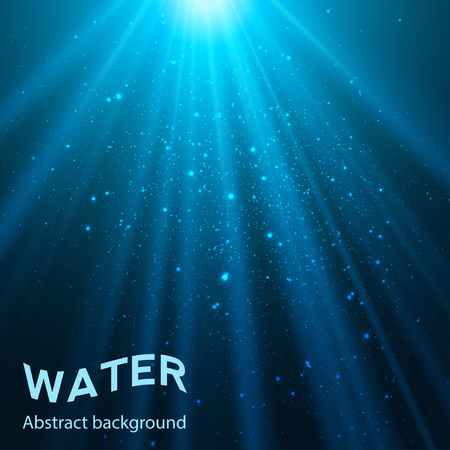 underwater abstract blue shine background illustration