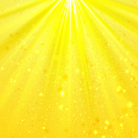 shining light: Yellow shining light top magic abstract background Vectores