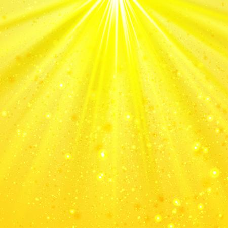 shining light: Yellow shining light top magic abstract background Illustration