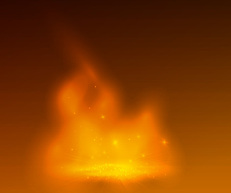 fantasy background: Orange smoke on stage, abstract design with a fire