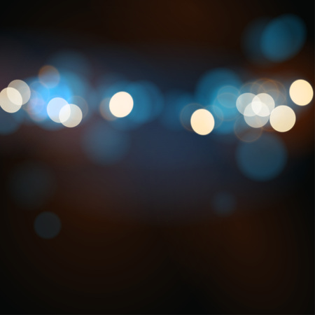 Abstract bokeh background with blurred light Ilustração