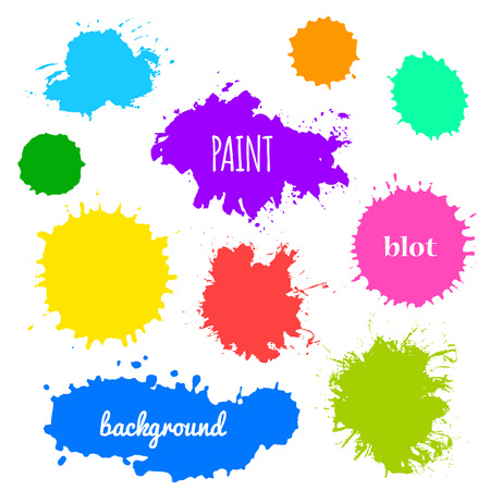 red paint: Collection of paint splash